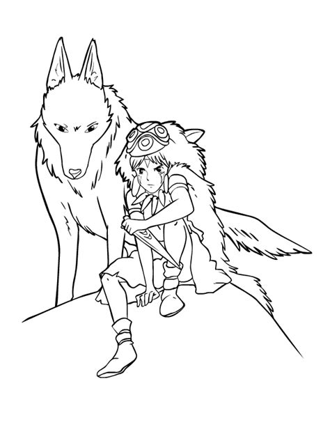 Ink Princess Mononoke By Charfade On Deviantart Princess Mononoke Coloring Pages Free Coloring Sheets