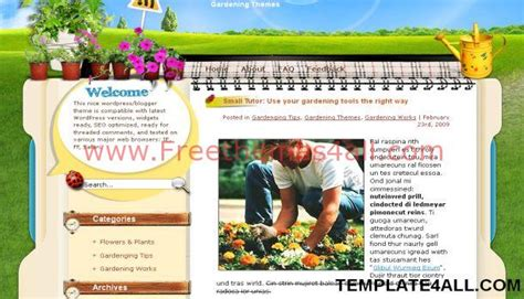 themes wordpress garden gardening wordpress theme jpg freethemes4all