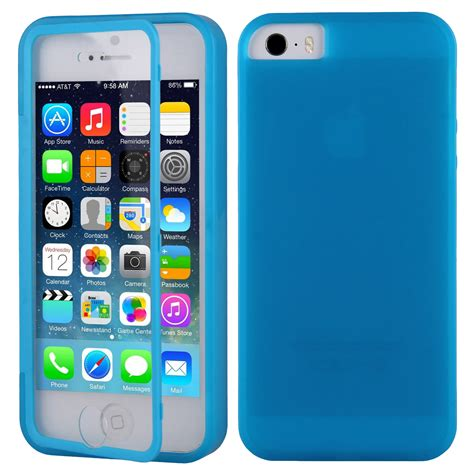 Skinfit 5s for apple iphone 5 5s flip front touch skin soft tpu gel