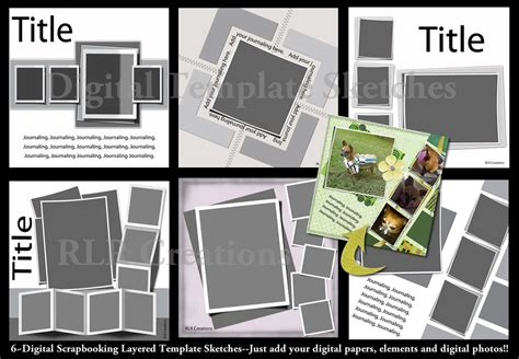 digital templates for photoshop lifted layers digital scrapbooking psd layered templates