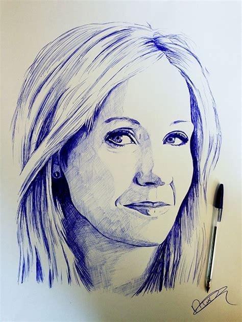 J K Rowling Sketches by Food By Nathan Wyburn Kaleidoscope