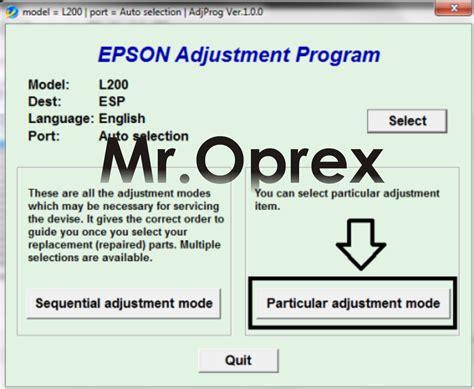 cara menggunakan resetter epson l200 cara reset printer epson l200