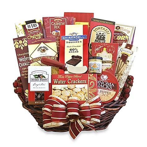 bed bath and beyond gifts for the whole gang gourmet gift basket bed bath beyond