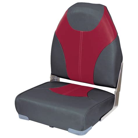 red fishing boat seats wise 174 high back fishing boat seat 203996 fold down