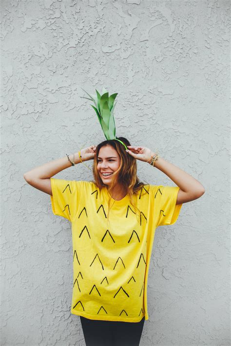 diy costume be a pineapple costume diy get spooky