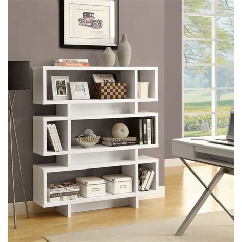 overstock white bookcase white 55 inch high modern bookcase free shipping today