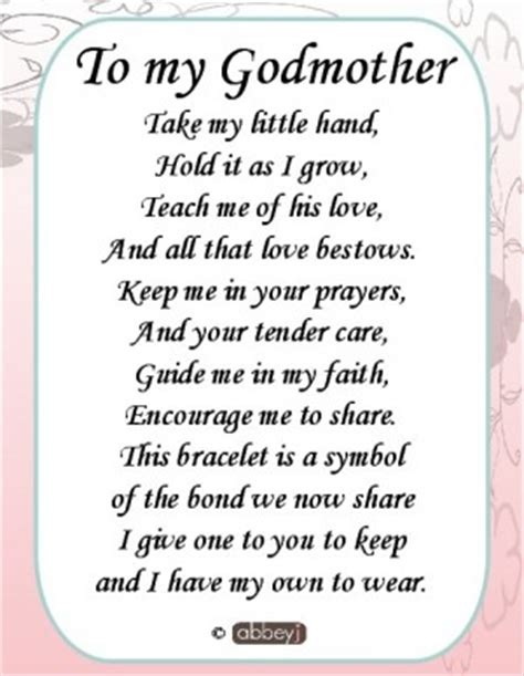 will you be my sayings godmother quotes and poems quotesgram
