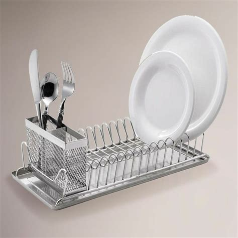 small compact vintage kitchen sink dish drainer stainless