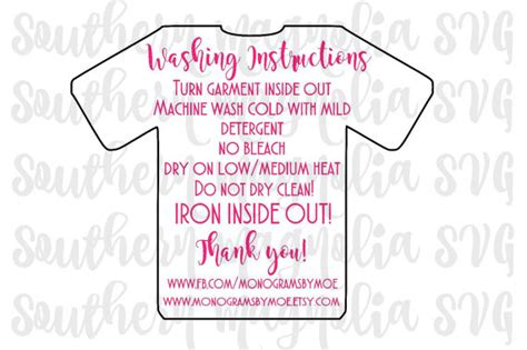 printable iron on vinyl instructions vinyl apparel care card instructions print and cut file
