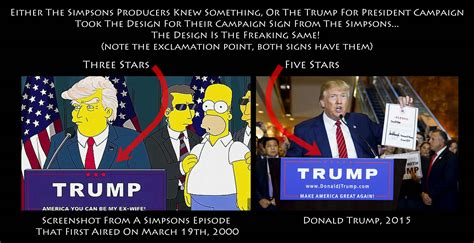 donald trump simpsons trump caign uses caign sign from the simpsons