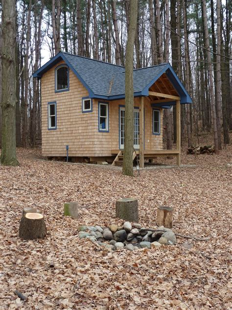 building a small cabin in the woods relaxshacks com andrea funk s super awesome cabin tiny house