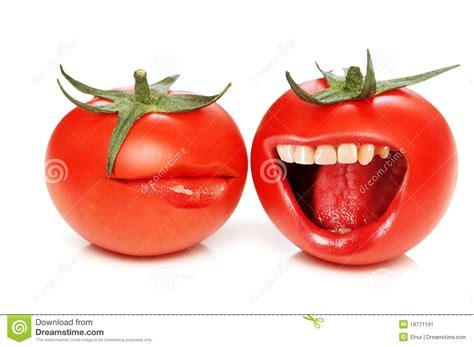 Tomaten Gr N Ernten 5608 by Lustiges Konzept Mit Tomaten Und Mund Stockbild Bild