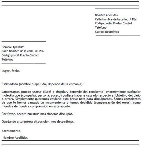 ejemplo carta de disculpa ejemplo de carta de disculpa formal carta de disculpa