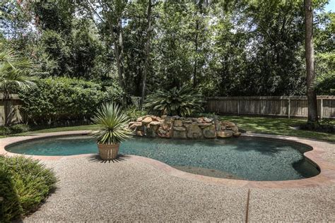 woodlands backyard backyard with pool the woodlands journal