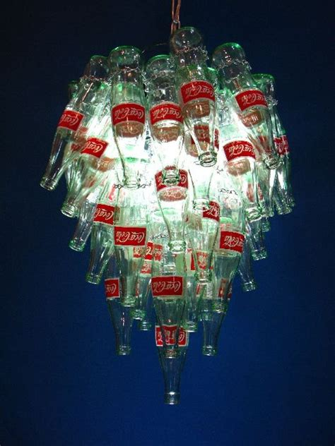 Coke Bottle Chandelier Quot Pop Quot Coke Bottle Chandelier This May Be Purchased On Ecofirstart Eco Friendly