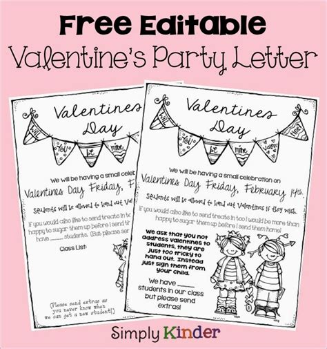 valentines letter for freebielicious s day letter