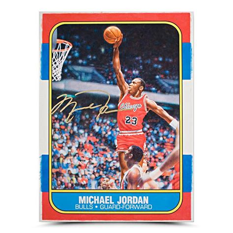 Michael Rookie Of The Year Card Mba Hoops by Michael Autographed Original Fleer Rookie Card