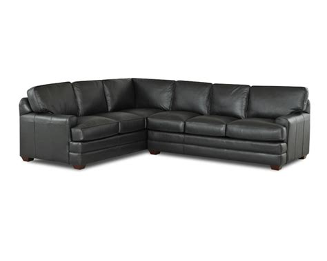 black leather l couch black leather l shaped sofa thesofa