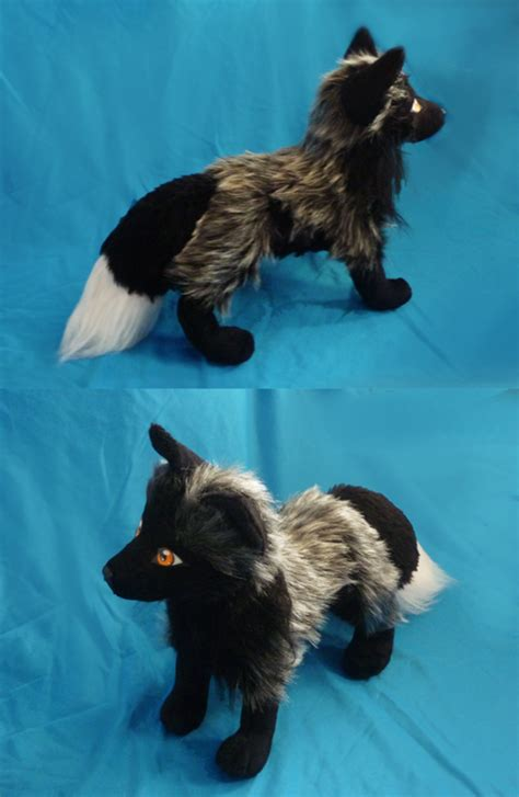 silver fox plush finished by goiku on deviantart