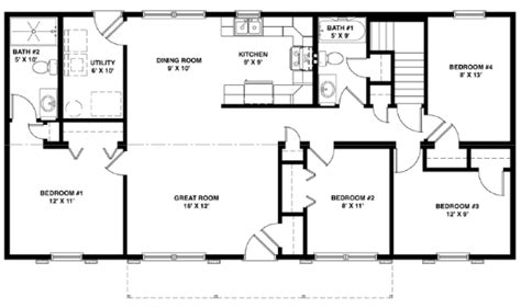 modular raised ranch floor plans plh lewisburg ranch
