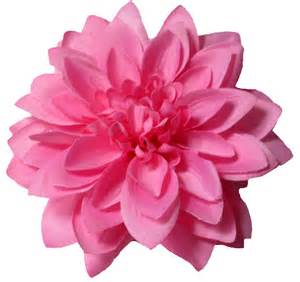 flower clip large pink dahlia hair flower clip