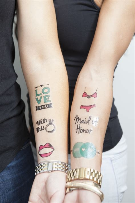 diy bachelorette temporary tattoos something turquoise