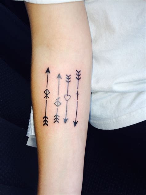 tattoo ideas representing grandchildren tattoos org every arrow represents a member of my family