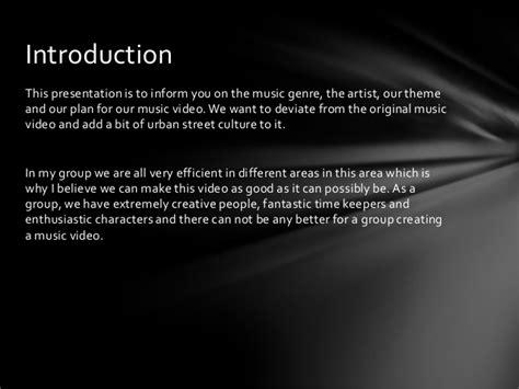 music video treatment