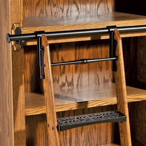 Rolling Pantry Ladder by Rockler Vintage Rolling Library Ladder Ladder Hardware