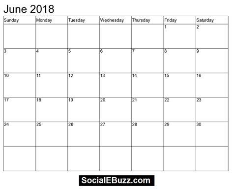 june 2018 calendar with holidays calendar template word