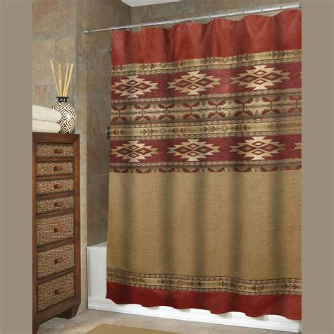 southwest style curtains southwestern curtains sonorah southwest shower curtain by