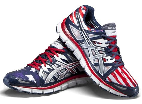 usa running shoes asics gel blur33 team usa themed shoes running
