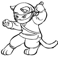 ninja cat coloring page ninja cats on pinterest ninja cats ninjas and red dots