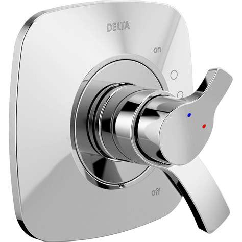 Delta Single Handle Shower Faucet Temperature Setting by Delta Dryden 1 Handle 6 Setting Diverter Valve Trim Kit In