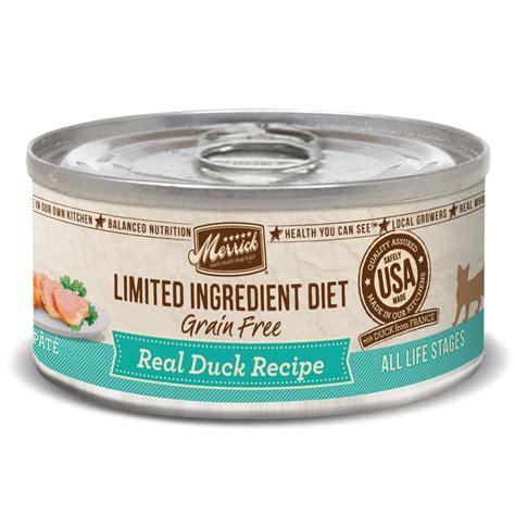 merrick limited ingredient food merrick limited ingredient diet grain free duck canned cat food petco