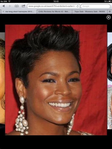 how to style hair like nia long nia long always looks stunning with the short hair cut