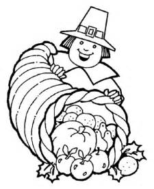 pilgrim coloring pages free coloring pages thanksgiving cornucopia coloring pages