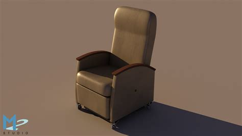 hospital reclining chair 3d model recliner hospital