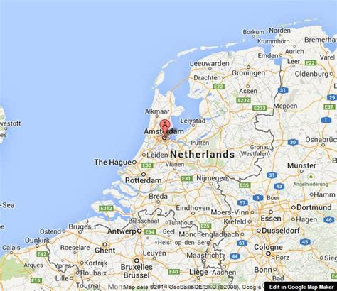 where is amsterdam on the map amsterdam on map of netherlands