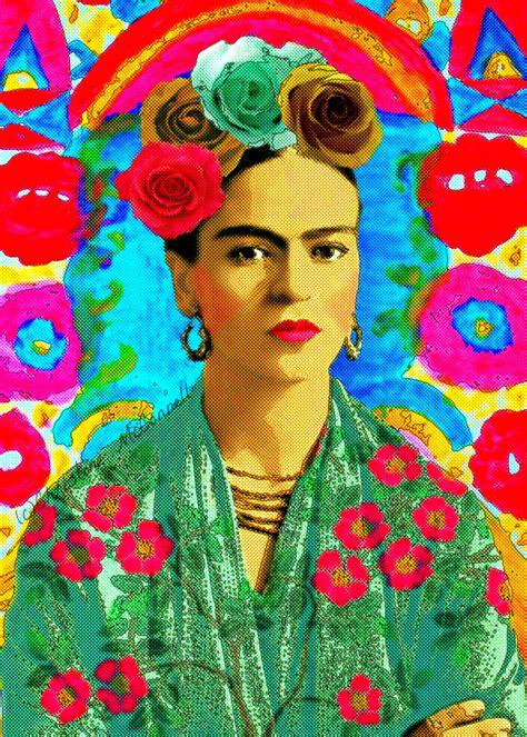 imagenes retro obras frida kahlo retro art print boho instant digital download