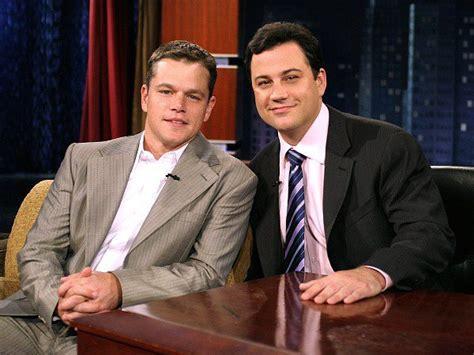 Jimmy Kimmel Mat Damon by Jimmy Kimmel And Matt Damon A Feud For The Ages
