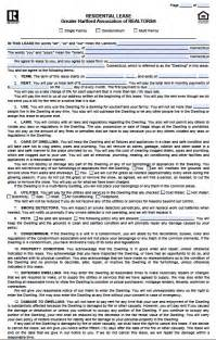Template Residential Lease Agreement by Free Connecticut Residential Lease Agreement Pdf Template
