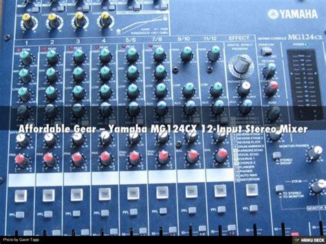 Audio Mixer Yamaha Mg124cx richard aquilone affordable gear yamaha mg124cx 12