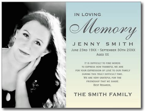 funeral bookmarks template free inspirational free memorial card