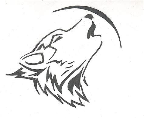 tribal howling wolf by doragonryu on deviantart