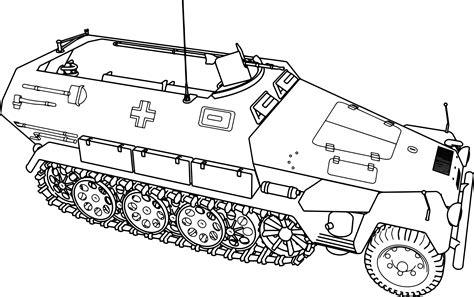 printable coloring pages tanks hanomag sd kfz 251 tank coloring page wecoloringpage