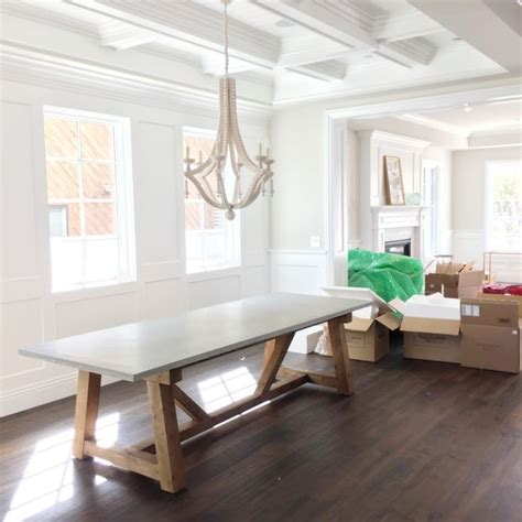 concrete dining room table best 25 concrete dining table ideas on pinterest
