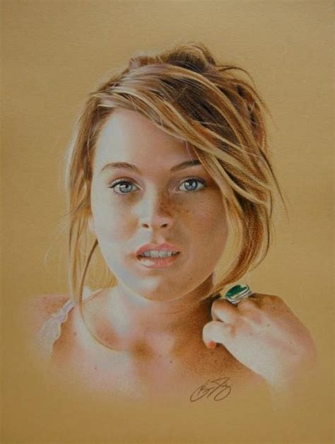 colored pencil artists lindsay lohan colored pencil by brian duey