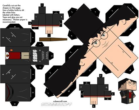 Harry Potter Papercraft - harry potter cube papercraft