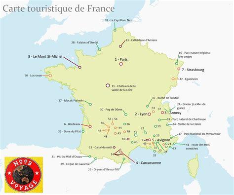 carte de la france detaillee touristique zzvoyage